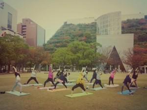 花見ヨガ~ヨガとアロママッサージのコラボイベント~  @ 天神中央公園 | 福岡市 | 福岡県 | 日本