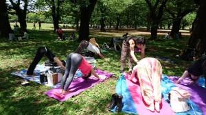 倍音瞑想パークヨガ@代々木公園 @ 代々木公園